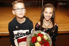 Nach dem Auftritt: das zukünftige Kinderprinzenpaar Kilian I. und Lina I.