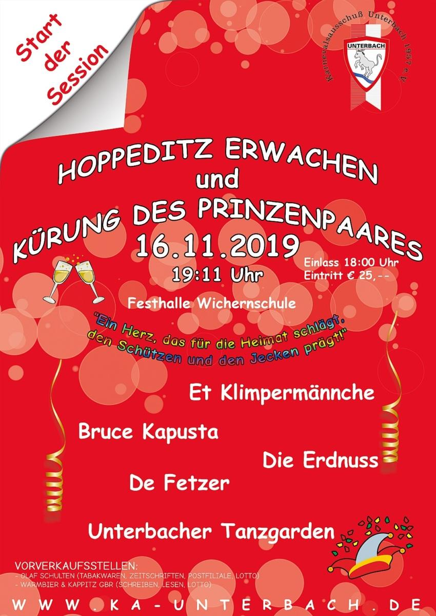 Hoppeditz-Erwachen und Kürung des Prinzenpaares